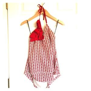 Red Bow Halter